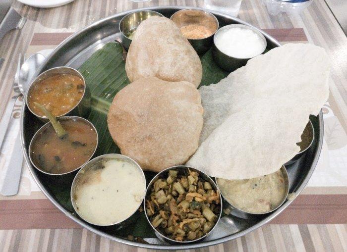 Voorbeeld van een thali